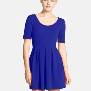 Nordstrom LUSH Fit and Flare Dress - Royal Blue